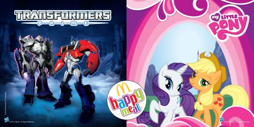 Transformers Prime And My Little Pony Happy Meal Toys