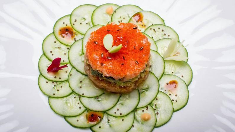 Yoshoku, Bistronomie, Japanese, French, Naina de Bois - Juzan, Le Bistro du Parc, Chef Vikram Khatri, Guppy by ai, Salmon Tartare
