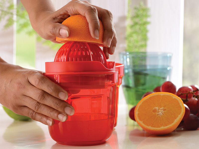 The Juist makes juicing citrus fruits very easy. The pattern of ridges on the plastic make it better at squeezing out the last drops of juice, which otherwise doesn't happen with the traditional metal devices we have at home.