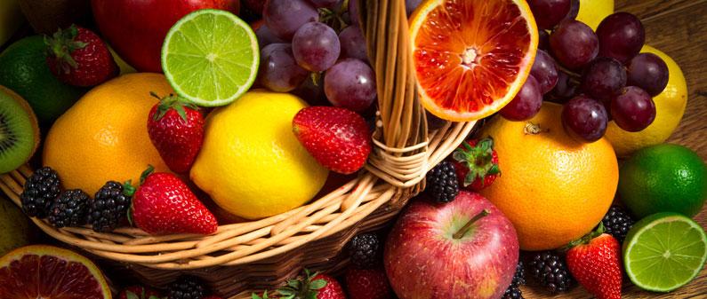 fruits, apples, oranges, melons, blueberries, banana, strawberry, grapefruit, watermelon, vitamins, fiber