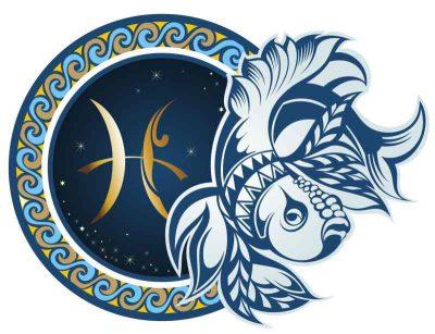 Pisces. Zodiac sign.