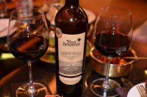 A barrel aged fine red wine with Shiraz and Cabernet Sauvignon grapes
