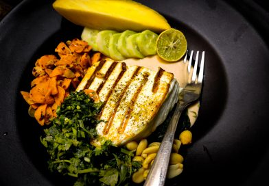 Grilled Paneer with Mango